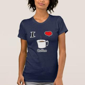 Amo a mujeres del café camisetas