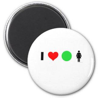 Amo a mujeres fáciles imán redondo 5 cm