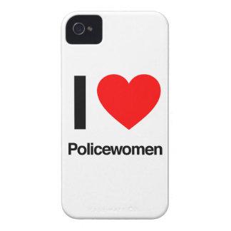 amo a mujeres policía Case-Mate iPhone 4 protectores