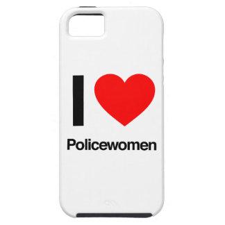 amo a mujeres policía iPhone 5 Case-Mate fundas