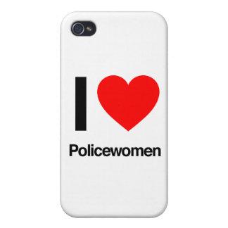 amo a mujeres policía iPhone 4 carcasas