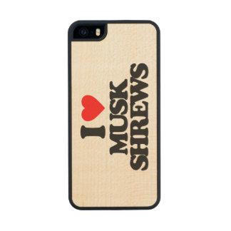 AMO A MUSARAÑAS DEL ALMIZCLE FUNDA DE ARCE CARVED® PARA iPhone 5 SLIM