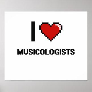 Amo a musicólogos póster