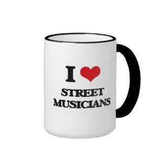 Amo a músicos de la calle tazas