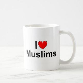 Amo a musulmanes (del corazón) taza de café