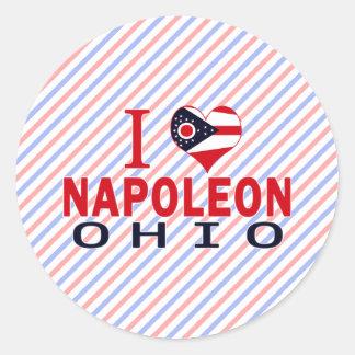 Amo a Napoleon Ohio Etiquetas Redondas