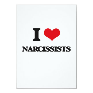 Amo a Narcissists Invitación 12,7 X 17,8 Cm