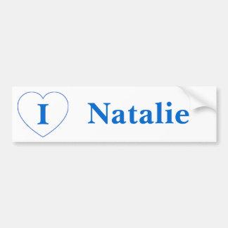 Amo a Natalie (los BPS) Pegatina Para Auto