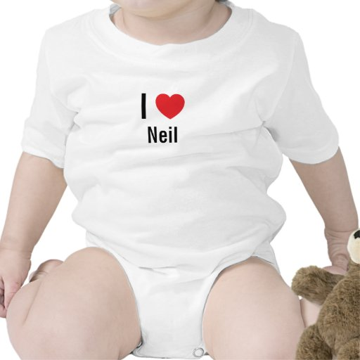 Amo a Neil Traje De Bebé