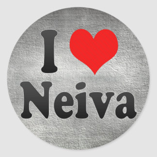 Amo a Neiva, Colombia Pegatina Redonda