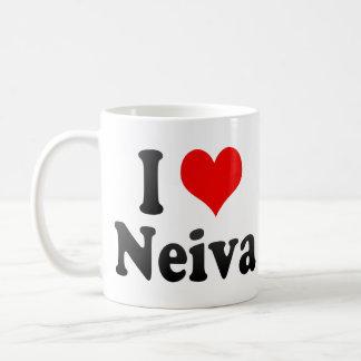 Amo a Neiva, Colombia Taza Básica Blanca
