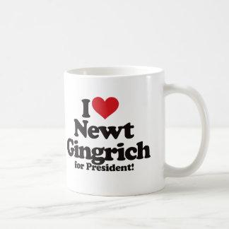 Amo a Newt Gingrich para el presidente Taza