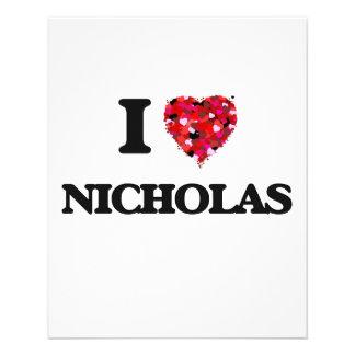 """Amo a Nicholas Folleto 4.5"""" X 5.6"""""""