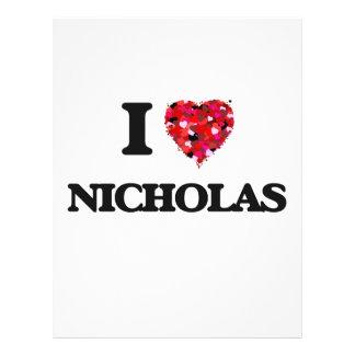 """Amo a Nicholas Folleto 8.5"""" X 11"""""""