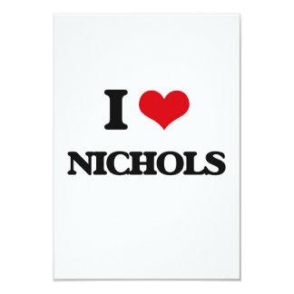 """Amo a Nichols Invitación 3.5"""" X 5"""""""
