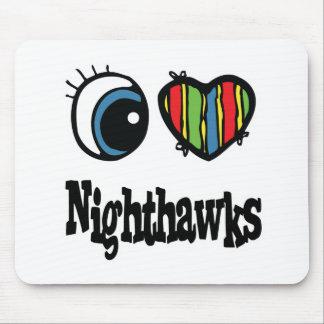 Amo a Nighthawks (del corazón) Alfombrillas De Ratón