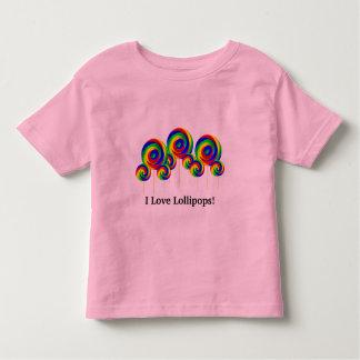 Amo a niños de la camiseta de los Lollipops Playeras