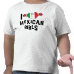 Amo a niños mexicanos de los chicas camiseta