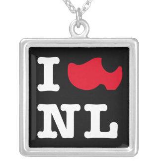 Amo a NL Colgante Cuadrado