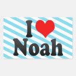 Amo a Noah Rectangular Pegatinas