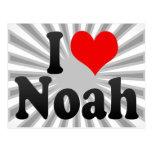 Amo a Noah Tarjeta Postal
