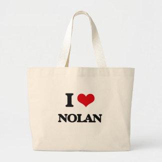Amo a Nolan Bolsa Tela Grande