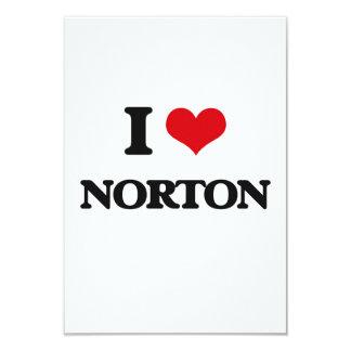 "Amo a Norton Invitación 3.5"" X 5"""