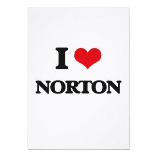 "Amo a Norton Invitación 5"" X 7"""