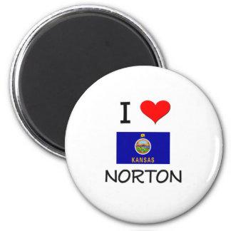 Amo a NORTON Kansas Imán Redondo 5 Cm