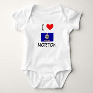 Amo a NORTON Kansas Playera