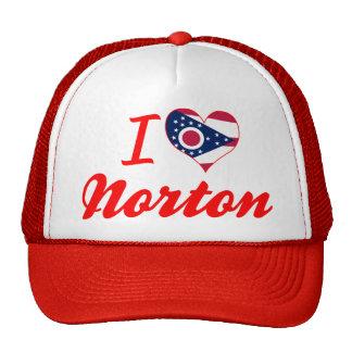 Amo a Norton, Ohio Gorras