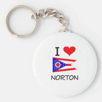 Amo a Norton Ohio Llavero Redondo Tipo Pin