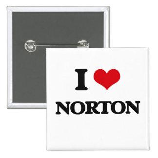Amo a Norton Chapa Cuadrada 5 Cm