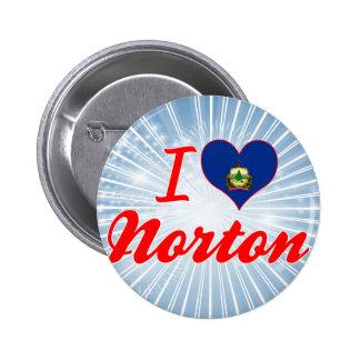 Amo a Norton, Vermont Pin