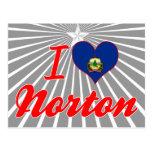 Amo a Norton, Vermont Tarjeta Postal