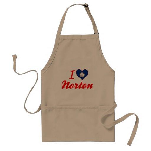 Amo a Norton, Virginia Delantal