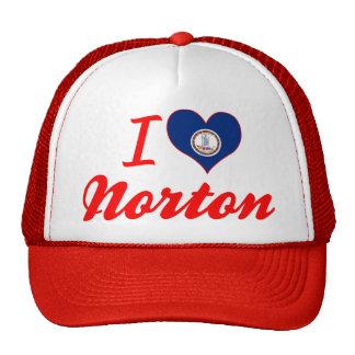 Amo a Norton, Virginia Gorros Bordados