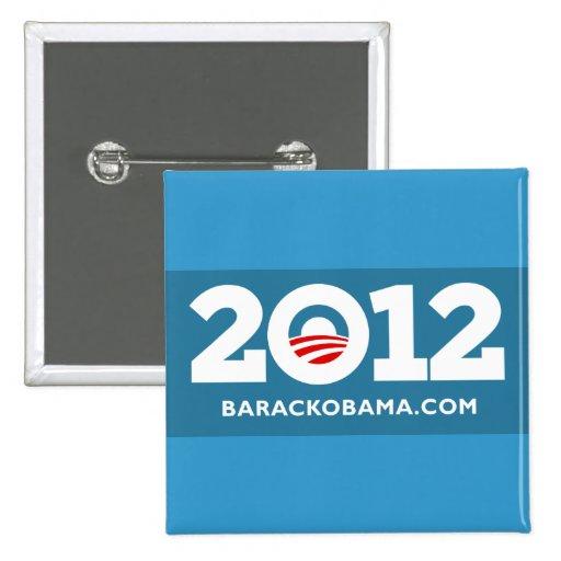 Amo a Obama 2012 Pin Cuadrada 5 Cm