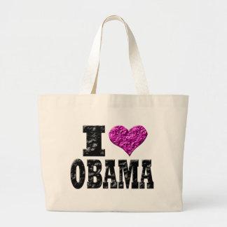 Amo a Obama Bolsa Tela Grande