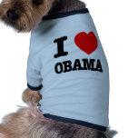 Amo a Obama Camisa De Mascota