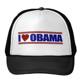 Amo a Obama Gorros Bordados