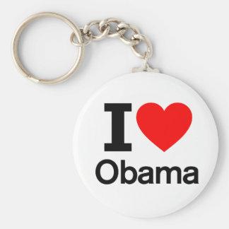 Amo a Obama Llaveros Personalizados