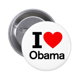 Amo a Obama Pin Redondo De 2 Pulgadas