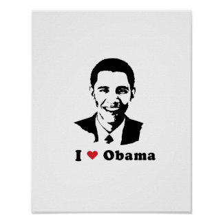 AMO A OBAMA - .PNG POSTER