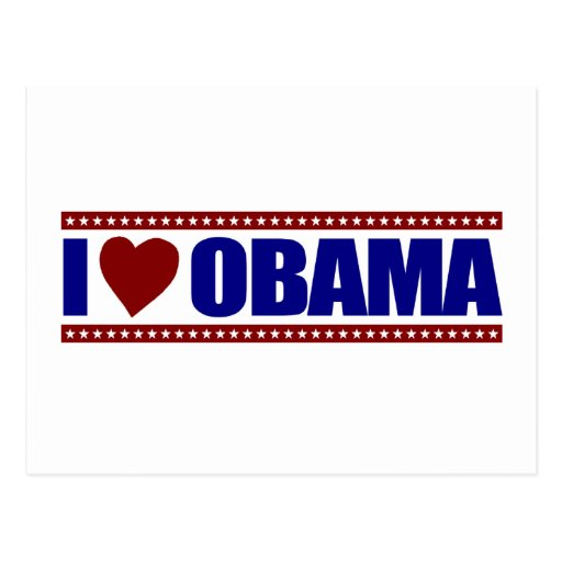 Amo a Obama Tarjetas Postales