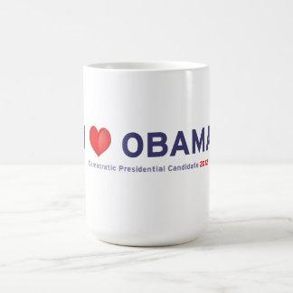 Amo a Obama Tazas De Café