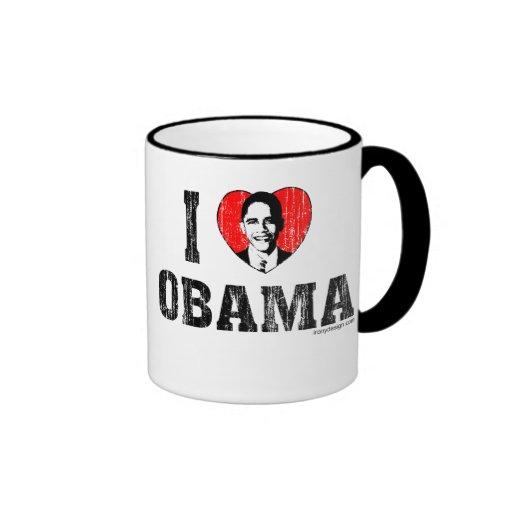 Amo a Obama Taza A Dos Colores