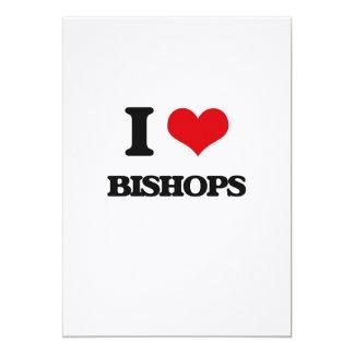Amo a obispos invitación 12,7 x 17,8 cm