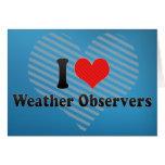 Amo a observadores de tiempo tarjetón