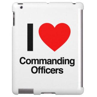 amo a oficiales al mando funda para iPad